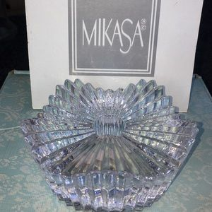 Mikasa romantic candle holder Crystal